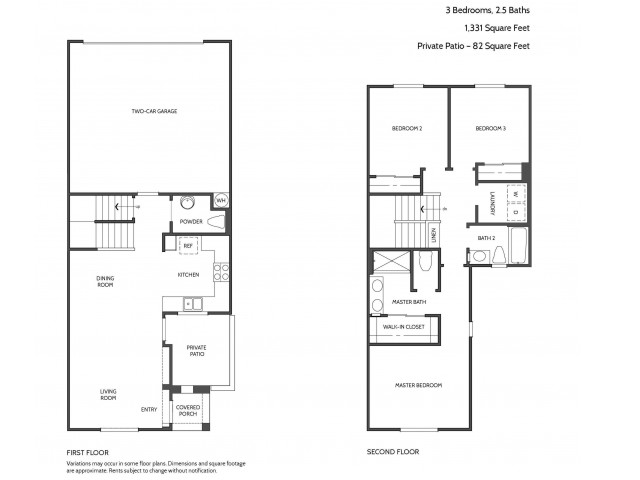 Three Bedroom Floorplan | Townhomes at Lost Canyon