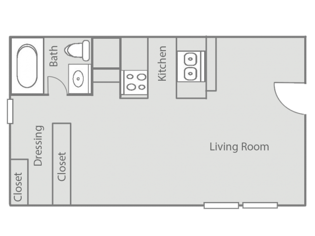 Studio Floor Plans | Oklahoma City Apartment | Cambridge Landing