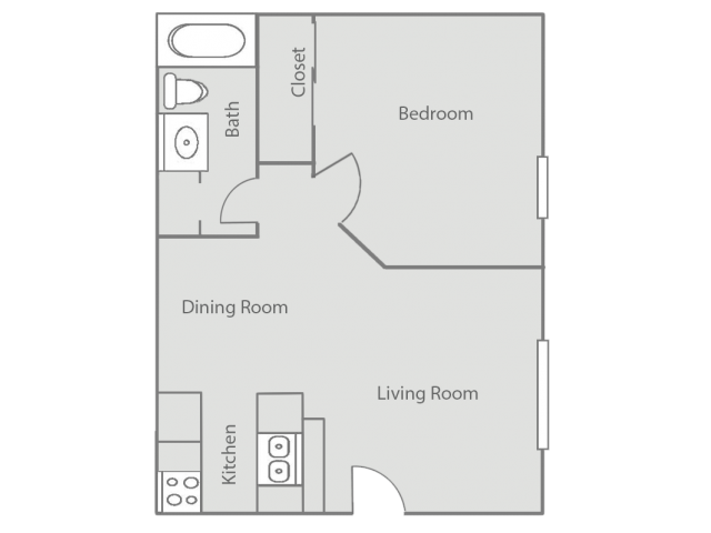 1 Bedroom Floor Plans | Oklahoma City Apartment | Cambridge Landing
