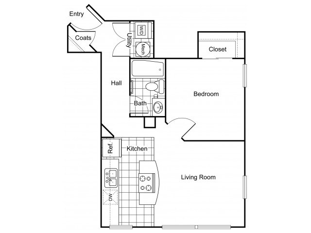 Layout 3 | Apartments In Wichita KS | The Douglas