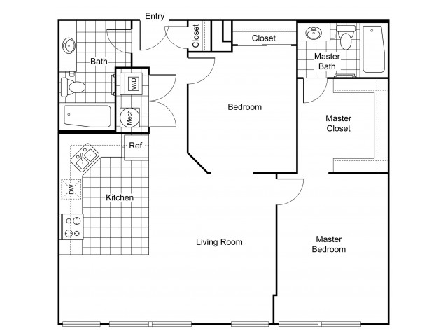 Layout B1 | Apartments In Wichita KS | The Douglas