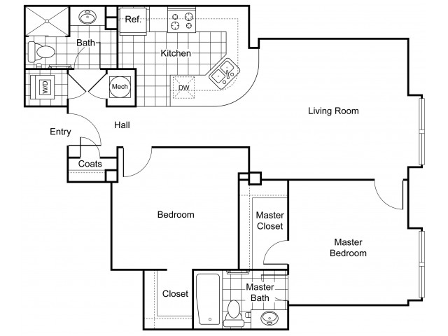 Layout B2 | Apartments In Wichita KS | The Douglas