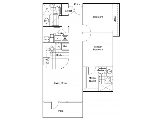 Layout B3 | Apartments In Wichita KS | The Douglas