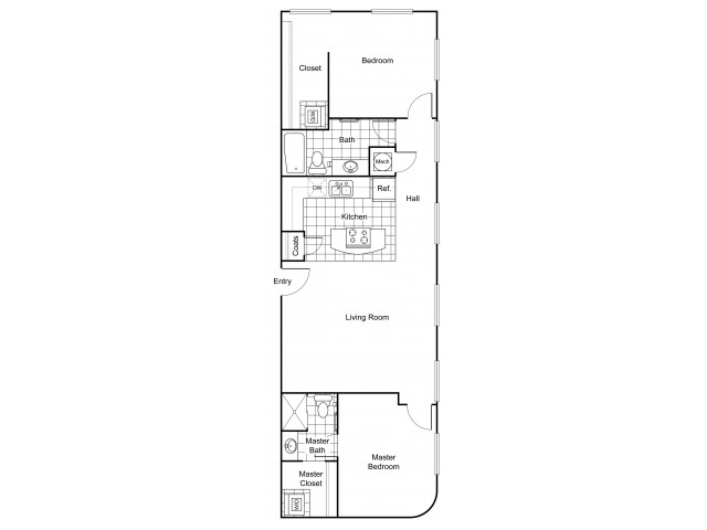 Layout B5 | Apartments In Wichita KS | The Douglas