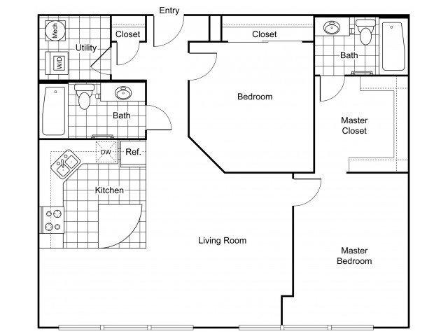 Layout B4 | Apartments In Wichita KS | The Douglas