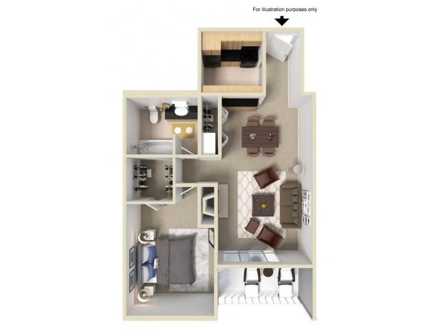 1 Bedroom Floor Plans 1 | Summit Ridge