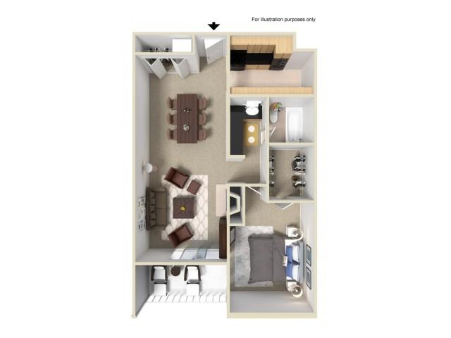 1 Bedroom Floor Plans 3 | Summit Ridge