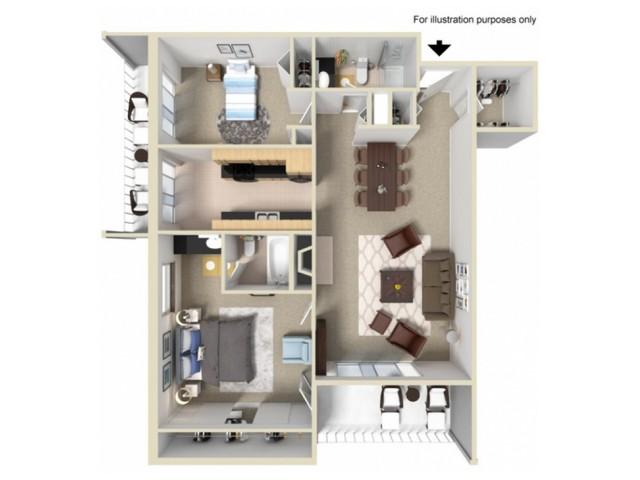 2 Bedroom Floor Plans 1 | Summit Ridge
