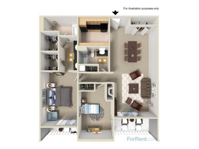 2 Bedroom Floor Plans 2 | Summit Ridge