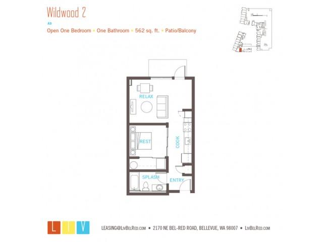Floor Plan 5 | Bellevue Washington Apartments | LIV