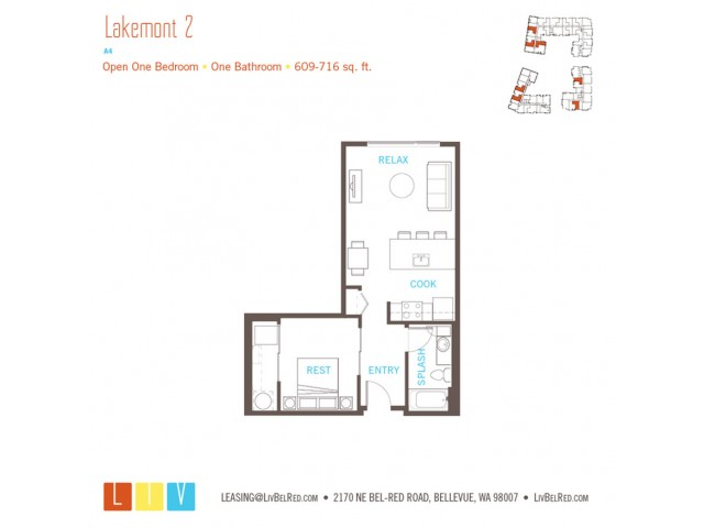 Floor Plan 8 | Bellevue WA Apartments | LIV
