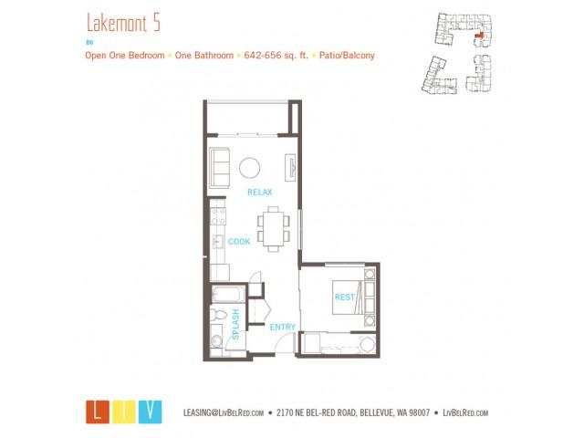 Floor Plan 9 | Apartments Bellevue WA | LIV