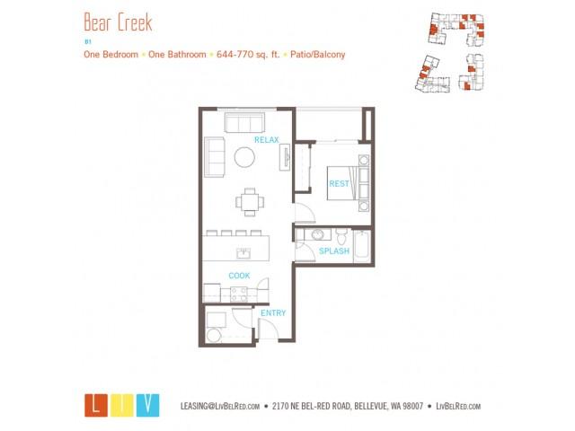 Floor Plan 10 | Bellevue Washington Apartments | LIV