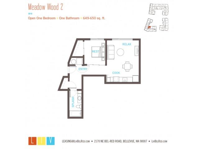 Floor Plan 11 | Apartments For Rent In Bellevue Washington | LIV