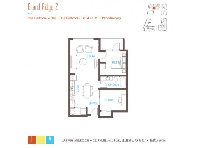 Floor Plan 19 | Apartments Bellevue WA | LIV
