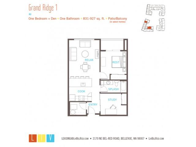 Floor Plan 21 | Apartments For Rent In Bellevue Washington | LIV