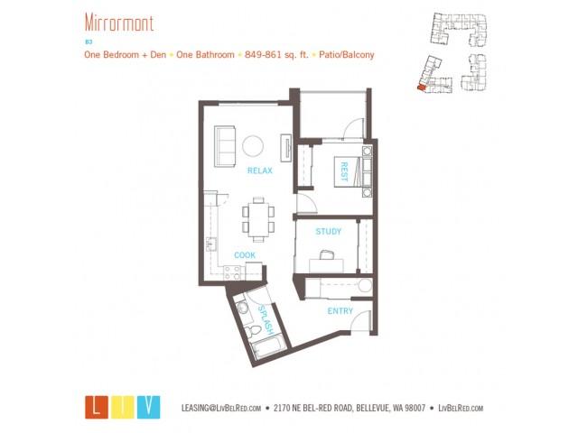 Floor Plan 22 | Bellevue Apartments | LIV
