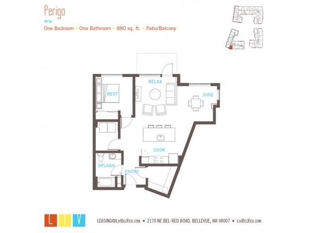 Floor Plan 23 | Bellevue WA Apartments | LIV