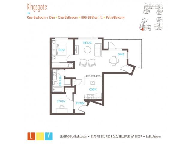 Floor Plan 25 | Bellevue Washington Apartments | LIV