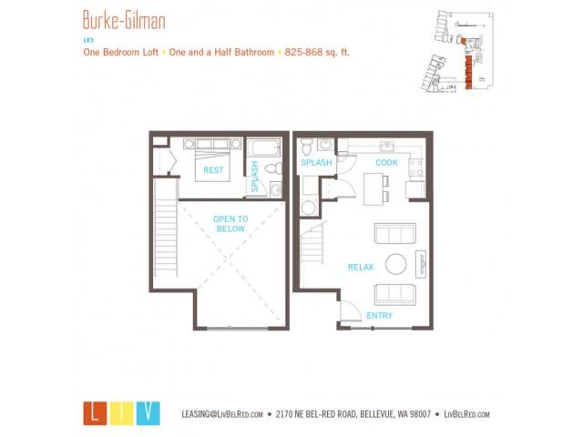 Floor Plan 27 | Bellevue Apartments | LIV