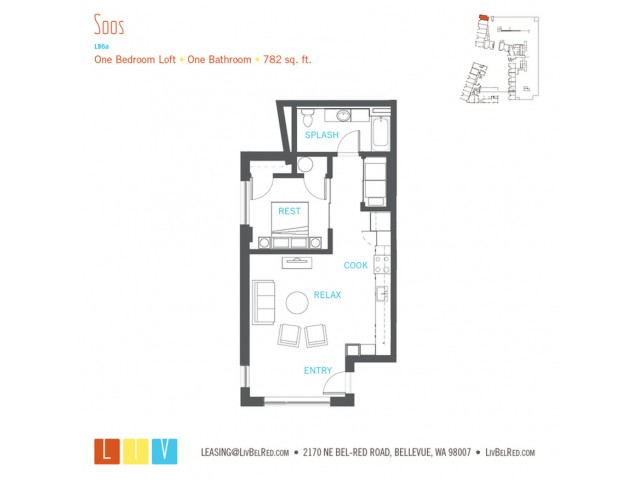 Floor Plan 28 | Bellevue WA Apartments | LIV