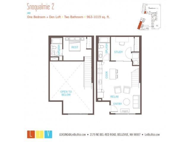 Floor Plan 29 | Apartments Bellevue WA | LIV