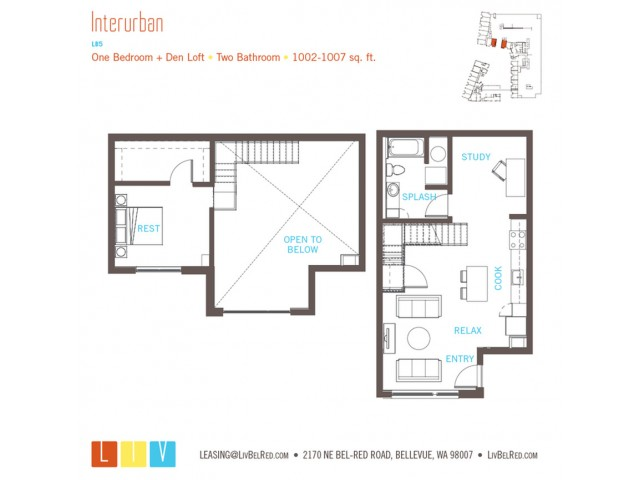 Floor Plan 30 | Bellevue Washington Apartments | LIV