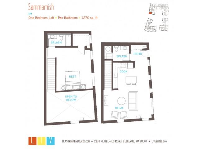Floor Plan 32 | Bellevue Apartments | LIV