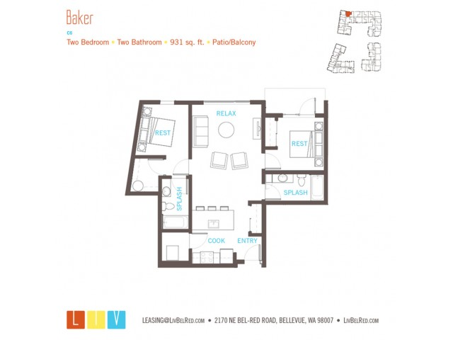 Floor Plan 35 | Bellevue Washington Apartments | LIV