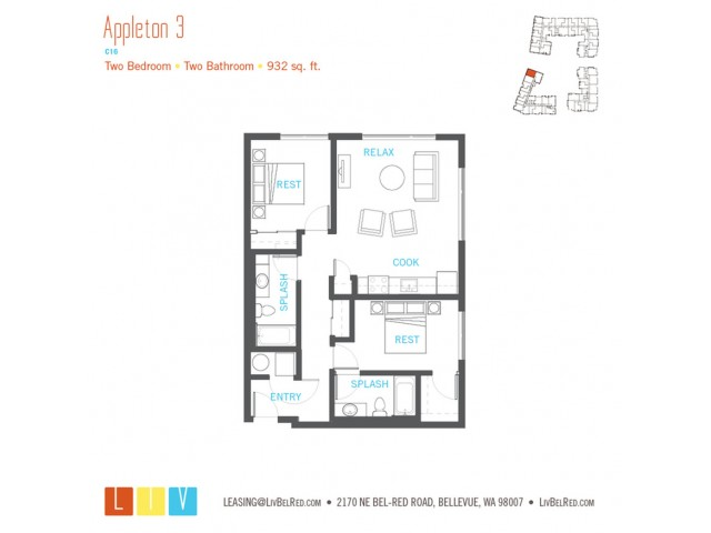 Floor Plan 36 | Apartments For Rent In Bellevue Washington | LIV