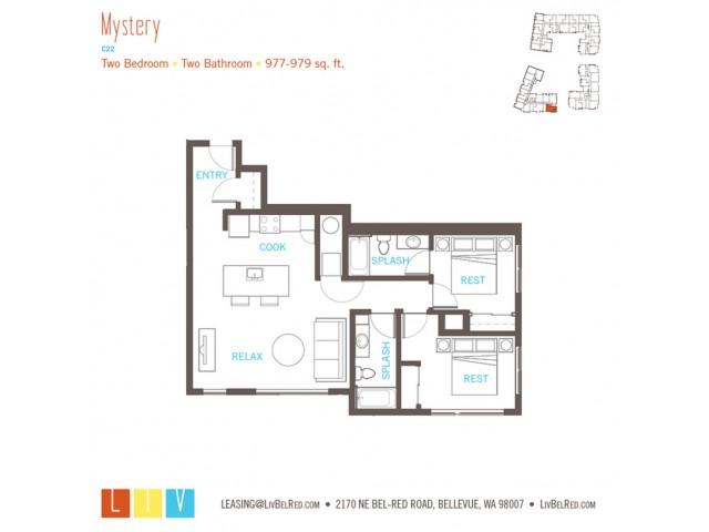 Floor Plan 38 | Bellevue WA Apartments | LIV