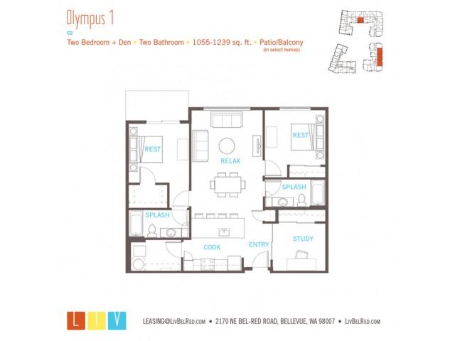 Floor Plan 42 | Bellevue Apartments | LIV
