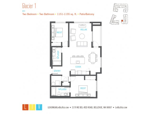 Floor Plan 49 | Bellevue WA Apartments | LIV