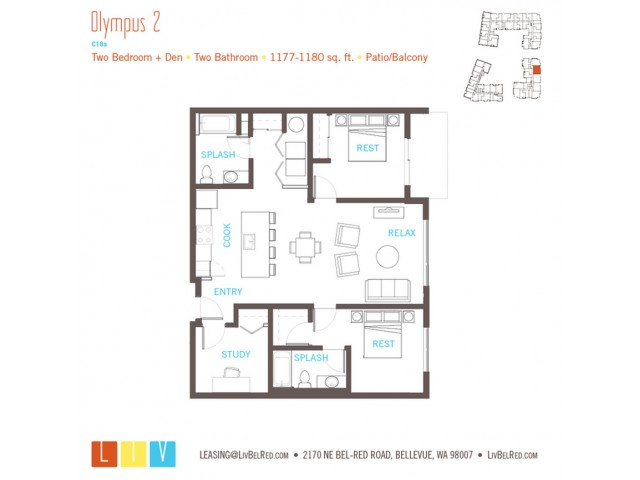 Floor Plan 53 | Bellevue WA Apartments | LIV
