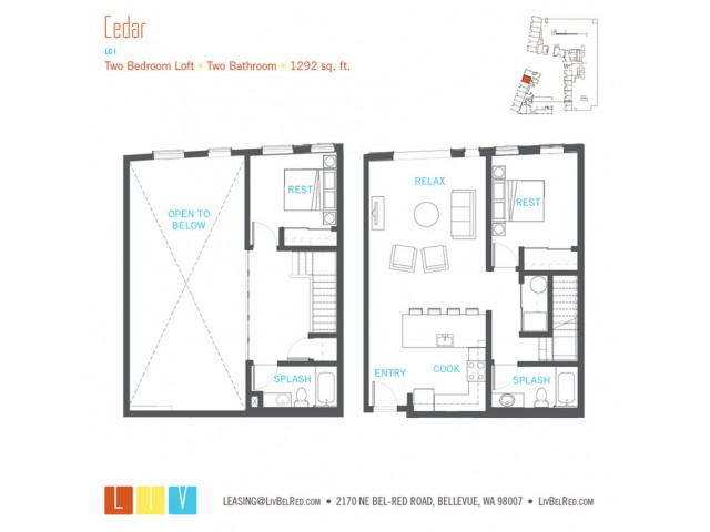 Floor Plan 55 | Bellevue WA Apartments | LIV