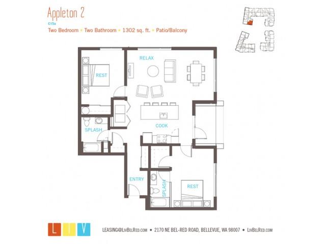 Floor Plan 56 | Bellevue WA Apartments | LIV