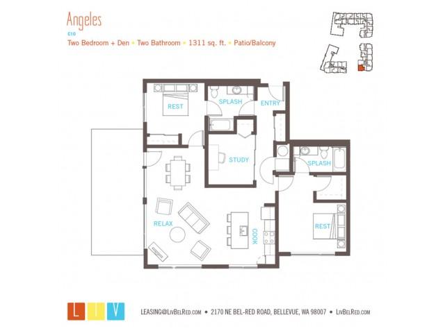 Floor Plan 57 | Bellevue WA Apartments | LIV