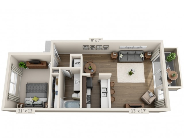 Floor Plan 2 | Apt For Rent In San Jose CA | Sagemark