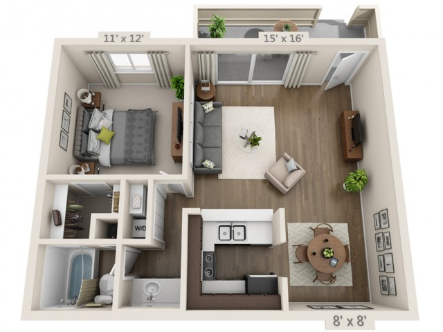 Floor Plan 3 | Apartments San Jose | Sagemark