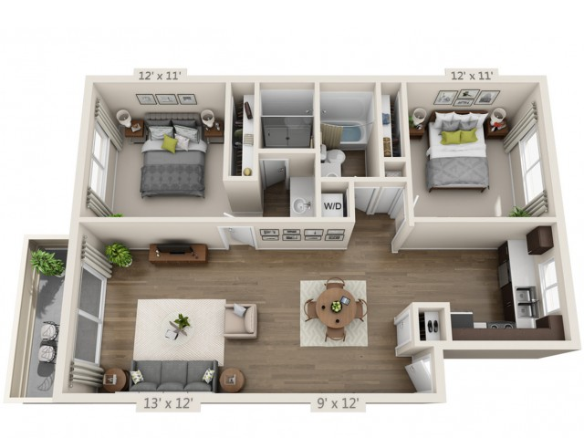 Floor Plan 6 | Apartments In San Jose | Sagemark