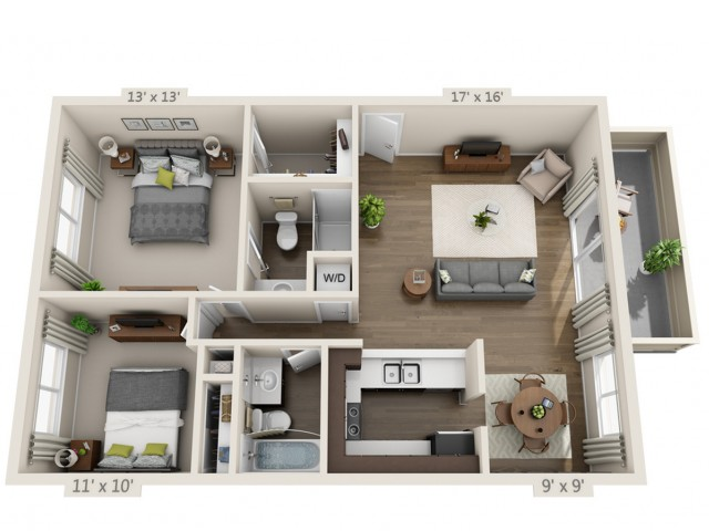Floor Plan 7 | Apartments For Rent In San Jose CA | Sagemark