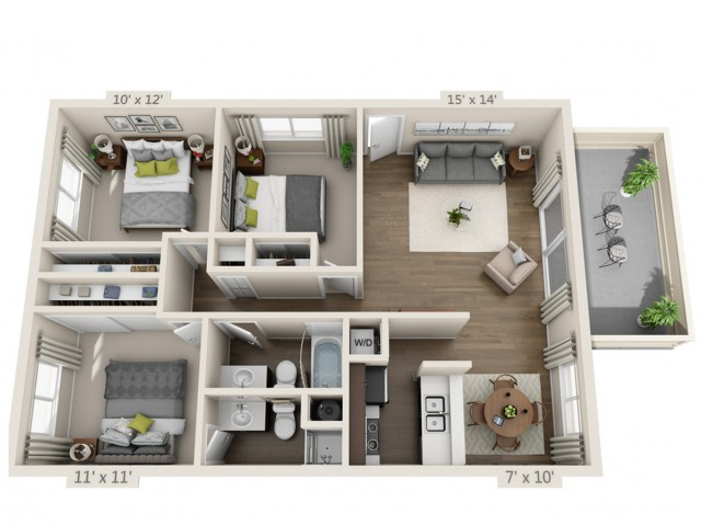 Floor Plan 8 | South San Jose Apartments | Sagemark
