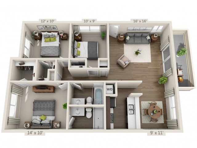 Floor Plan 9 | Apartments In South San Jose | Sagemark