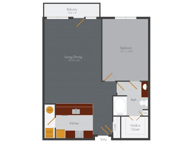 One Bedroom 3 | Pencil Factory Flats