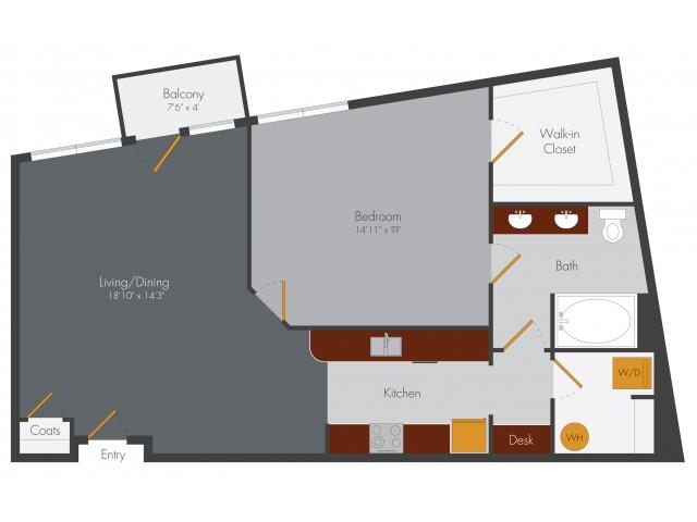 One Bedroom 4 | Pencil Factory Flats