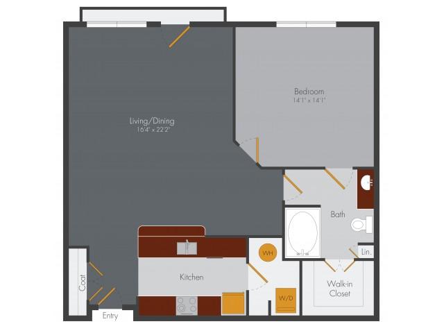 One Bedroom 5 | Pencil Factory Flats