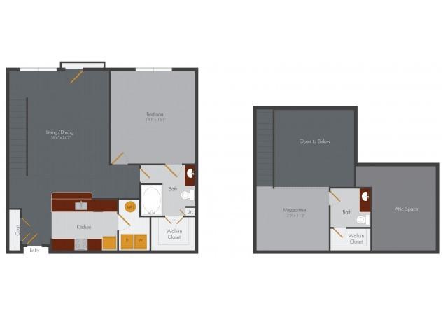 One Bedroom 10 | Pencil Factory Flats
