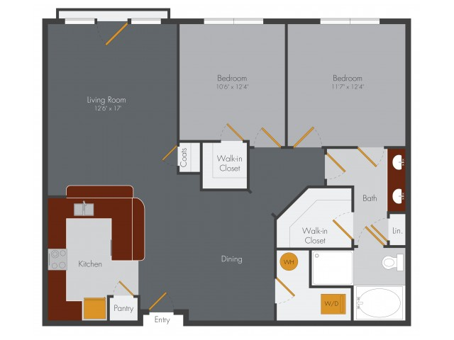 Two Bedroom 3 | Pencil Factory Flats