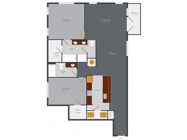 One Bedroom 13 | Pencil Factory Flats