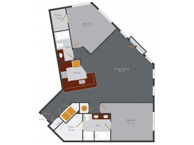 Two Bedroom 9 | Pencil Factory Flats